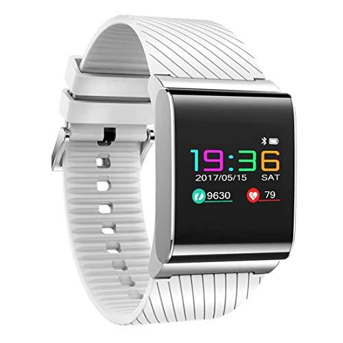 HHRONG Touch Color Screen Ip67 wasserdichtes intelligentes Armband, Herzfrequenz-Überwachungsschlaf-Überwachungssport-Schritt Bluetooth intelligentes Armband-White Farb-multifunktions-navigations-display