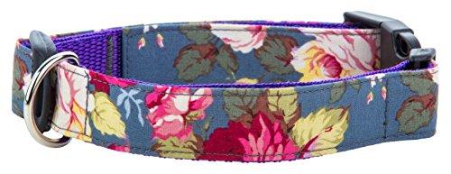 Mascotas Perros Boutique Rosa Collar para Perro, pequeño, Sapphire