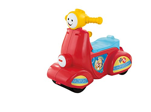 Fisher-Price - Cgt06, Scooter Ridi e Impara, con canzoncine, Melodie e Frasi, Tecnologia Smart Stages