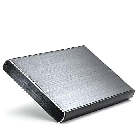 CSL - USB 3.0 Boîtier externe de disque en aluminium | Super Speed pour disque dur S-ATA (SSD + HDD) 2.5