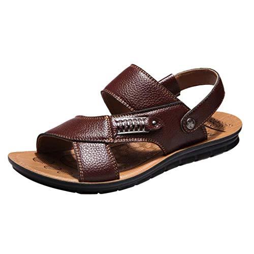 Uomo Sandali Scarpe,Smrbeauty Slide Ciabatte Uomo Scarpe da Spiaggia E Piscina Sandali A Punta Aperta Infradito Ciabatte da Spiaggia E Accogliente Sandali E Pantofole Scarpe