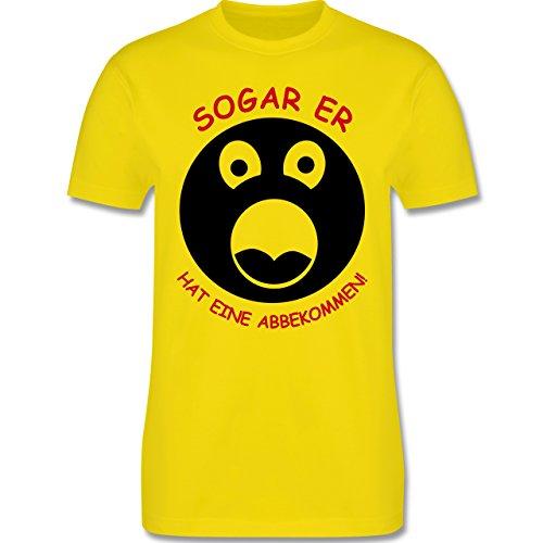 JGA Junggesellenabschied - Sogar er hat eine abbgekommen - Herren Premium T-Shirt Lemon Gelb