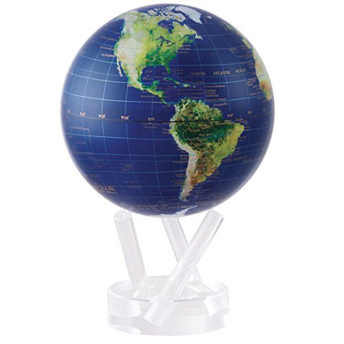 For Sale 4.5″ Rotating Mova Globe Satellite View w/gold lettering Review