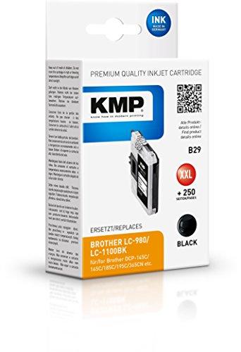 KMP Tintenkartusche für Brother DCP-145/165C, B29, Schwarz