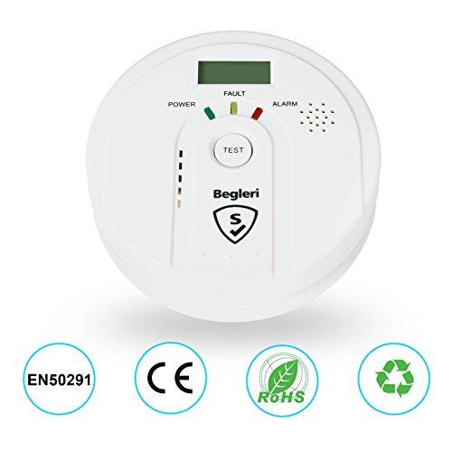 Kohlenmonoxid-Warnmelder EN50291 zertifiziert/CO- Melder,batteriebetrieben,Digitalanzeige,Deutsche Anleitung