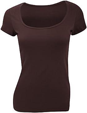 Bella Canvas- Camiseta de manga corta para chica con cuello redondo