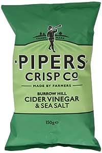Pipers Sea Salt and Cider Vinegar Crisps 150 g (Pack of 15)
