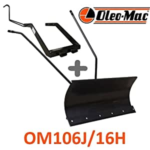 Lame à Neige 118 cm Noire + adaptateur pour Oleo-Mac OM 106 J/16 H