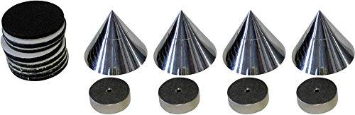 dynavox 204605  4x Boxenspikes Noisekiller Lautsprecher Absorber Spikes chrome