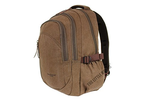 6b3392ef0762 Rocklands London Unisex Adult Brown Canvas Backpack Rucksack Travel Bag 30  Liter