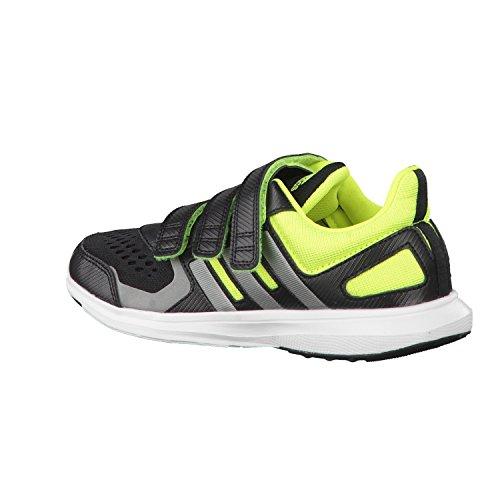 adidas Scarpe da Atletica Leggera bambini Nero / Grigio / Lima