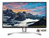 LG 27UK650-W - Monitor de 27' (IPS LED UHD 4K, 3840 x 2160 Pixels, 5 ms, Brillo 450, HDR 10, Screen Split) Blanco y Plata