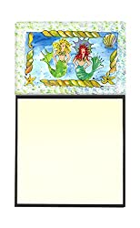 Carolines Treasures 8083SN Mermaid Refillable Sticky Note Holder or Postit Note Dispenser, 3.25 by 5.5, Multicolor