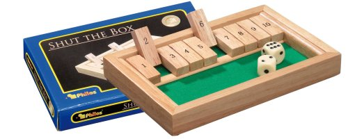 Philos 3129 - Shut The Box, mini, Würfelspiel, Klappenspiel