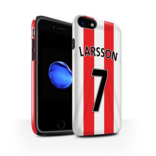 Offiziell Sunderland AFC Hülle / Glanz Harten Stoßfest Case für Apple iPhone 7 / Torwart Muster / SAFC Trikot Home 15/16 Kollektion Larsson
