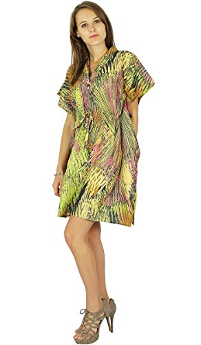 Maxi Vêtement De Nuitphagun Bohemian Tunique En Coton Kaftan Conception#2