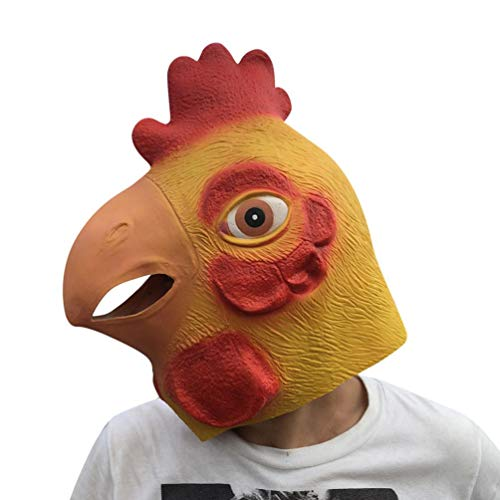 KingProst  Huhn Kopf Halloween Masken Neuheit KostüM Party Cosplay Deko Horror Adult KostüM Zubehör