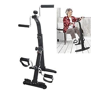 Guoyajf Esercizio per Bici Esercitatore per Braccia E Gambe - Esercitatore per Attrezzi da Braccio E Gambe - Esercitatore Portatile per Pedali - Attrezzi Fitness per Anziani E Anziani