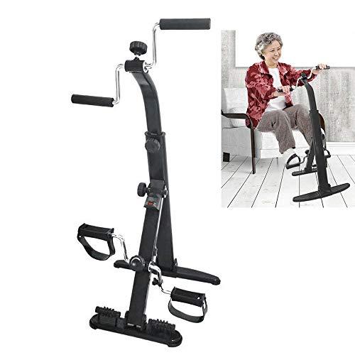 Guoyajf Heimtrainer für Arm und Bein - Arm & Bein-Trainingsgerät - Tragbarer Pedaltrainer - Fitnessgeräte für Senioren und Senioren - Falten Übung Fahrrad