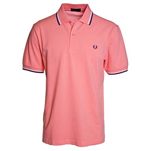 Fred Perry Twin Tipped Shirt Kingfisher Saisonfarbe HW13 Strawberry/White/ Royal