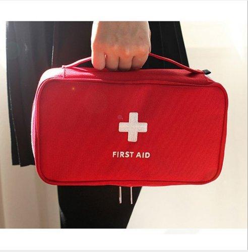 Tragbare leere Erste-Hilfe-Kit Tasche Home Office leere medizinische Tasche rot (Tuch, Medizinisches Klebeband)