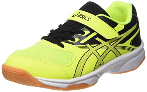 Kinder-volleyball-schuhe (ASICS Unisex-Kinder Upcourt 2 PS Gymnastikschuhe, Gelb (Safety Yellow/Dark Grey/Black), 32.5 EU)