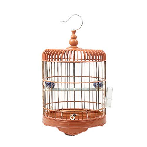 Prodotti per animali domestici Gabbie per Uccelli Bambù + gabbie per uccelli in plastica Gabbie per uccelli appese casette per uccelli Habitat Casa per Budgie Finch Canarino Piccoli animali Gabbie per