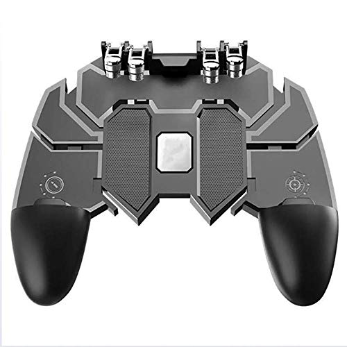 ALPEG Mobile Gaming-Griff, 6 Finger Gamepad für Handy, PUBG/Fortnite/Rules of Survival Gaming Grip, geeignet für 4,7-16,5 Zoll Android iOS Handy