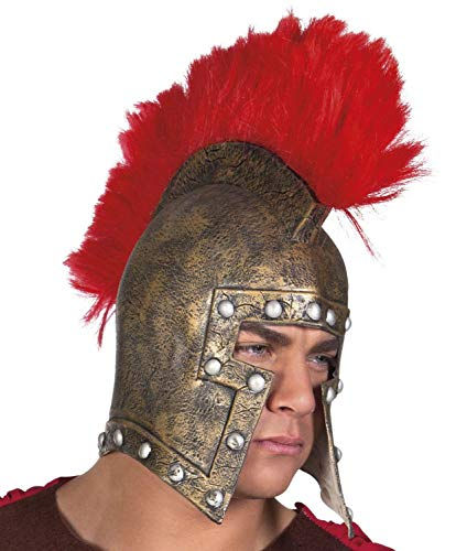Boland 04377 Latex Helm Centurion, Unisex– Erwachsene, Bronzo/Rosso, Taglia Unica