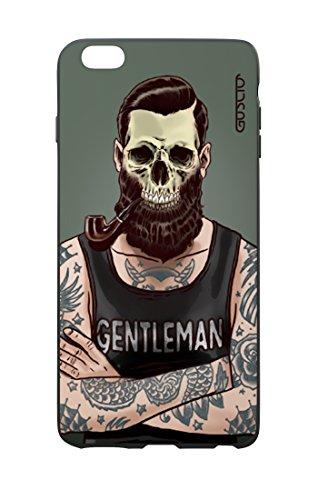 GUSCIO Cáscara Apple iPhone 7/8Carcasa Blanda Ligera antiarañazos-Hipster con Barba y Pipa, Calavera Tattoo-Funda Protectora
