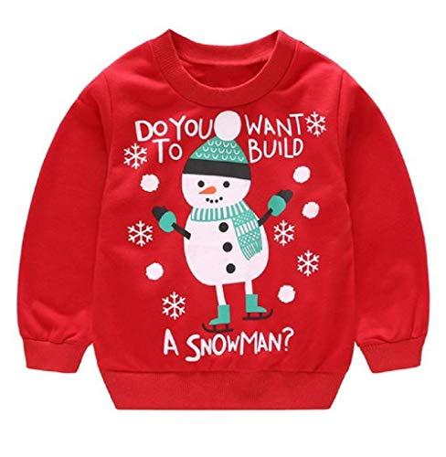 Tomatoa Kinder Jungen Baumwolle Pullover Baby Weihnachten Langram Rundals Cardigan Sweatshirt Pulli Weihnachtspullover Weihnachtspullis Oberbekleidung