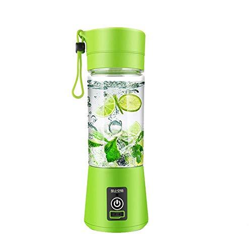 380Ml Multifunktional Electric Cup -Shape Juicer Mini Mixer Portable Mixer Gemüse Obst Squeezer Lesegeräte Flasche,Grün