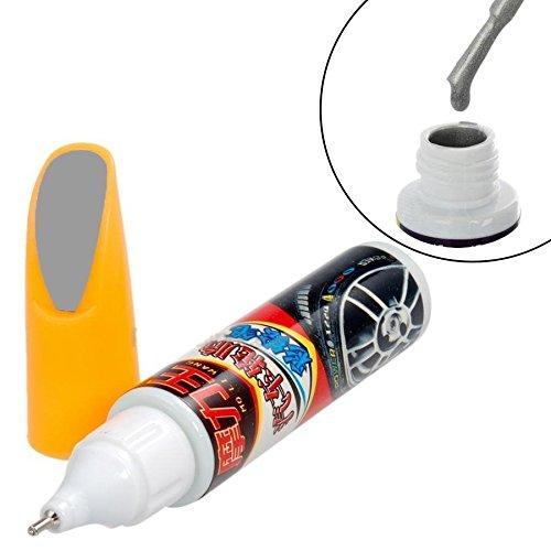 Rotulador/pincel para retoques de pintura de carrocería. Color gris metalizado
