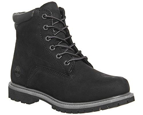 Timberland Waterville 6 inch Boots Black Nubuck - 6 UK