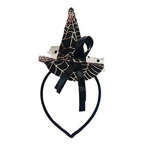 Preisvergleich Produktbild semen Damen Kopfband Gelb Deko Fledermaus Kopfschmuck Kostüm Haarreif Karneval Fasching (Schwarz)