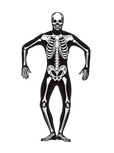 Second Skin Skelett leuchtend GID Halloween Kost�m Stretchanzug Gr M (Leuchtende Fancy Dress Kostüm)