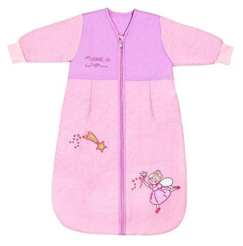 Schlummersack Baby Winter Schlafsack Langarm 3.5 Tog 56cm/Neugeborene - Pink Fairy (Ärmel Lange Jersey Blauer Himmel,)