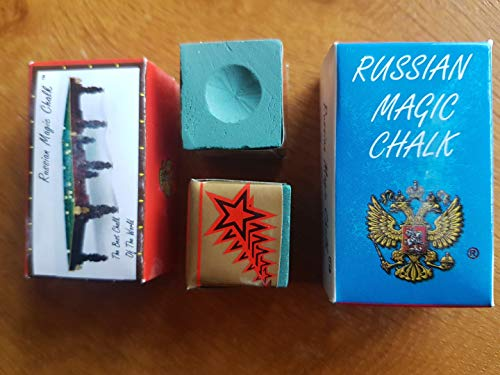 Russian Magic Chalk Walisischer Pool Trading Kreide, 2 Stück, Grün oder Blau, blau