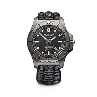 Victorinox I.N.O.X. Professional Diver Titanium Cuarzo – Reloj (Reloj de pulsera, Masculino, Titanio, Negro, Tela, Negro)