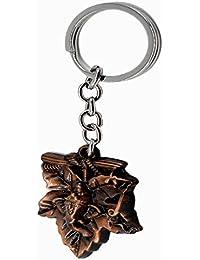 Faynci Evil Eye And Spiritual Leaf Ganesha High Quality Metal Key Chain