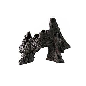 MagiDeal Vivarium Terrarium Ornament Reptile Lizard Basking Breading Hide Cave Aquarium Decor Mountain Shaped