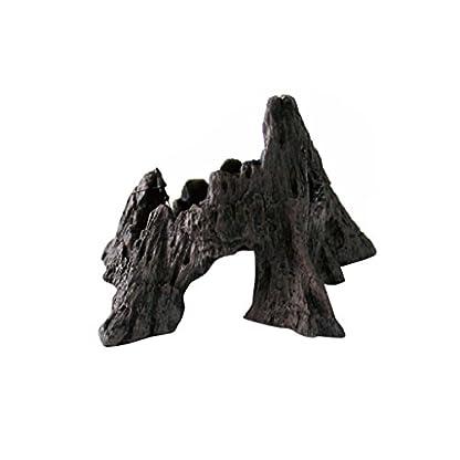 Vivarium Terrarium Ornament Reptile Lizard Basking Breading Hide Cave Aquarium Decor Mountain Shaped 1