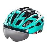 Zhongke Casco Ciclo Leggero Casco Bici da Corsa Visiera Magnetica Staccabile Schermo Visiera Casco Adulto per Bici da Corsa