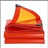 YANFEI Planen, Plane Heavy Duty Wasserdichtes Tuch Wasserdichte Sonnencreme LKW Plane 210g / , , Orange und Gelb (größe : 6 * 10M)