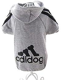 Unicoco Adidog Pet Dog Cat Tuta Hood Maglione Puppy T Shirt con Cappuccio  Cappotto Caldo Vestiti 9e8accdae005