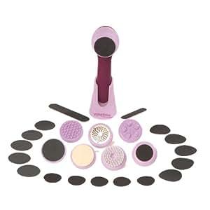 Velvetisse - Epilateur - 7 Têtes Interchangeables (épilation, massage, exfoliage, …) - Compact, Doux et Efficace