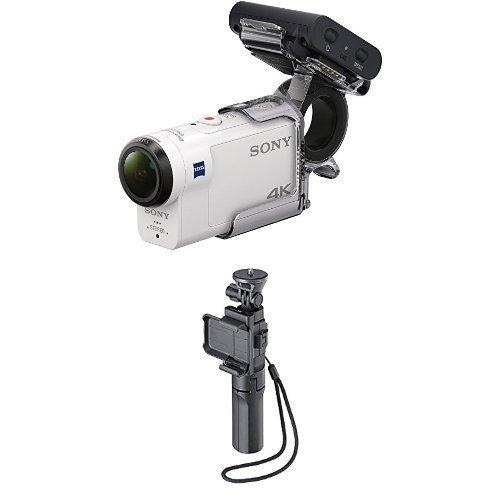 Sony FDR-X3000RFDI 4K Action Cam mit RM-LVR3 weiß inkl. Sony Mehrzweck-Griff - Nfc Cam Sony