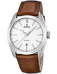University Sports Press  F16777/1 - Reloj de cuarzo para hombre, con correa de cuero, color marrón