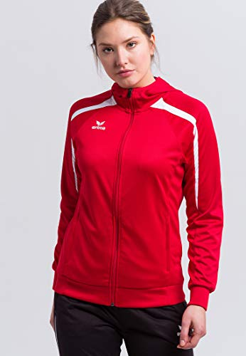 Erima Damen Liga 2.0 Trainingsjacke mit Kapuze Jacke, rot/dunkelrot/Weiß, 38