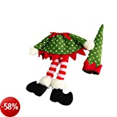 Christmas Wine Bottle Cover Wrap Novelty Decoration Elf Clothes (Dot) by New Trends